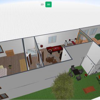 3D vaizdas 2 aukšto